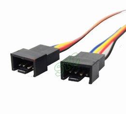 Descuento xbox dual Juegos Accesorios Ventiladores 50 Piezas Lote PC 4pin Fan 2510-4P Hembra a 2510-4P macho Y Splitter Cable Adaptador PWM Convertir Conector
