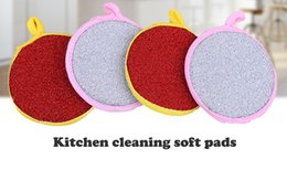Manufacturer supply household cleaning tools two face sponges pads soft scouring pads