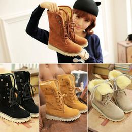 Classic Woolen Ankle Boots Winter Warm Fur Platform Shoes Woman Snow Boots Classic Winter Warm Fur Short boots