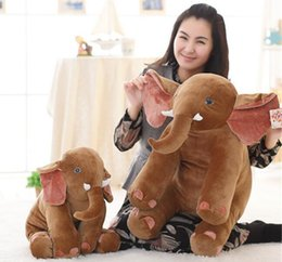 Compra Online Animales libres-El animal relleno grande del elefante los 50CM juega los regalos del bebé de la almohadilla de la felpa para la muñeca de los niños suaves del amortiguador del paño del festival presente muñeca libre del envío libre nueva