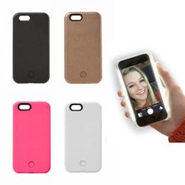 Wholesale Luxe LED allumez votre téléphone portable Batterie cas pour iphone plus plus Galaxy S6 bord S7 Note Avec Retail Package