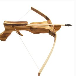Wholesale Toy crossbow Performance props Antique Wooden bows cmx30cm Archery equipment with soft arrow for sale