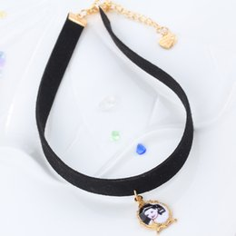 Hot European and American black PU Lady photo Design Chokers with Collarbone Women Necklace shorter one Jewelry