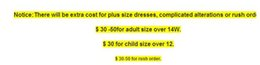 plus size fee or rushing fee