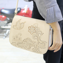 Wholesale New Korean fashion retro hollow carved saddle bag shoulder leisure Xiekua package factory direct sales