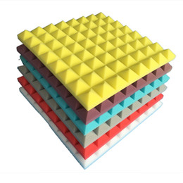 5Pcs 50x50x5cm Acoustic Studio Soundproofing Foam Sound Absorption Sponge Pyramid Tile Wall Panels for Music Rooms and Noise Reduction