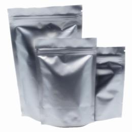 2017 bolsas de embalaje reutilizables 350Pcs 5.83''x7.92 '' (14x19cm) Mylar Reselable Stand Up Paquete de aluminio de aluminio puro Paquete para el Alimento Café Nuts Almacenamiento Bolsas de cremallera bolsas de embalaje reutilizables oferta