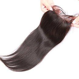 100% Human Hair Closure Brazilian Hair Lace Closure 8-20inch Straight Closure Natural Color With