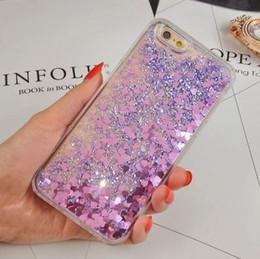 FashionTransparent phone cases Fun Glitter Star Heart Quicksand Liquid Phone Back cover For Iphone 5 6 6s plus 7plus Samsung S6 S7 edge