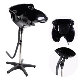 Wholesale Pro Portable Shampoo Basin Height Adjustable Salon Hair Treatment Bowl Black New
