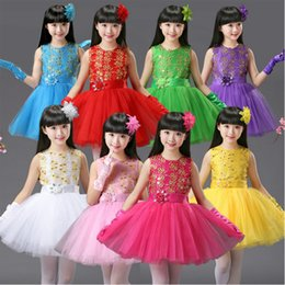 8 colors Girls dancing Party Dresses Bud silk bowknot Clothes Wedding Ballroom Dress For Girl Children's Princess Balllet danceware Outfits