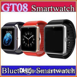 20X Bluetooth Smart Watch GT08 A1 with SIM Card Slot Health Watchs For iPhone 6S Samsung S7 Android IOS Smartphone Bracelet Smartwatch C-BS