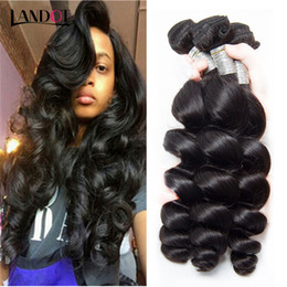 Brazilian Loose Wave Virgin Human Hair Weaves Bundles Unprocessed Peruvian Malaysian Indian Mongolian Cambodian Loose Curly Wavy Remy Hair