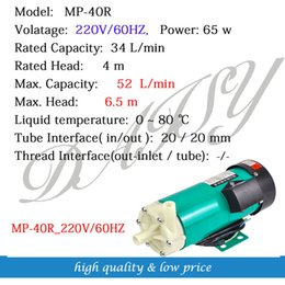 Wholesale MP R Engineering Plastic Magnetic Pump Circulation Pump Chemical Corrosion Resistant Water Pump For Electroplating Industry