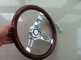 330mm 33cm 13inch Wood Phoebe steering wheel racing steering wheel three racing Phoebe black line
