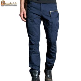 Wholesale New Men s Cargo Pants Size Baggy Zipper Pocket Trousers Men Multi Pocket Long Straight Men Working Pants Cotton PA566