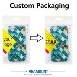 Compra Online Logotipo bolsa de plástico paquete-200 PC de encargo de la insignia OPP Bolso al por menor plástico para el iPhone 7 7 más cubierta del teléfono para la caja del teléfono de Samsung S5
