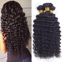 2017 24 profonds faisceaux de cheveux bouclés Rainbow queen Malaisienne Virgin Hair Deep cheveux bouclés Weave Malaisienne Straight Hair Style Cheap Malaysian non traitées vierge Bundle Deals