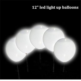 12 inch magic led wedding ballons decorations glow in dark flashing light up balloon white latex balloons wholesale drop shipping
