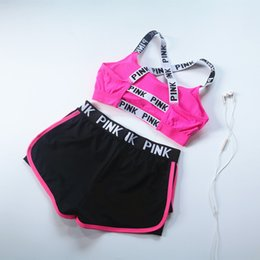 Quick Dry Summer sports bra shorts suit woman running Wire free Shake proof yoga fitness vest underwear two pieces set