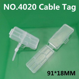Wholesale NO cable tag Cable ties Wire signage Cable signage Logo box Waterproof transparent plastic sign strage box