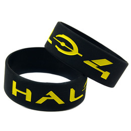 50PCS Lot 1 Inch Wide Halo 4 Silicone Bracelet Wristband Perfect To Use In Any Benefits Gift For Gamer
