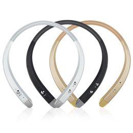 Top Factory HBS 913 HBS913 Neckband Bluetooth Earphone Headsets Wireless Headphone for LG iPhone Samsung Smartphones