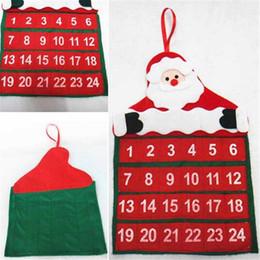 Wholesale Funny Christmas Calendars Non woven Fabrics Xmas Advent Countdown Calendar Christmas Santa Claus Decorations Home Wall Decor