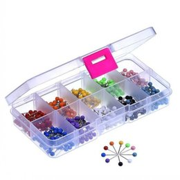 Wholesale Outus Map Tacks Push Pins Plastic Head with Steel Point Inch Pieces box