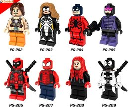 Araignées noires à vendre-PG8057 Marvel Super Heroes Deadpool Spider Femme Black Spider Girl Paladin Venom Deadpool Building Blocks Toys Gift