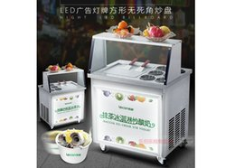 Wholesale Commercial Fried Ice Machine Yogurt Fruit Square Flat Single Pots Snowflake Thai Thai Fried Ice Cream Roll Free