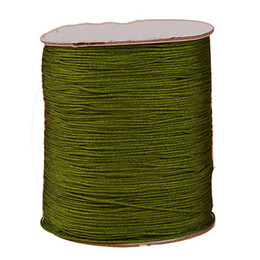 200m+1.5mm Olive Green Braided Nylon Cord Rattail Stain Braid Thread+ Macrame Rope Shamballa Bracelet Beading String Accessories