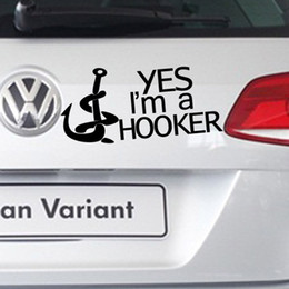 1pc Automobiles Motorcycles Exterior Accessories Car Stickers 15Cm*7cm I Am a Hooker Stickers Car Decals Auto Pasters