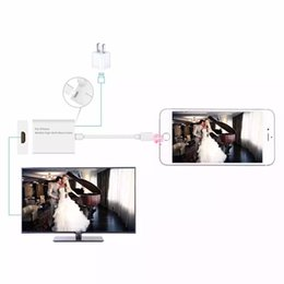 Wholesale HDMI Cable HDMI Adapter Digital Cable HDTV AV for Apple iPhone S Plus iPad P