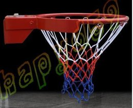 Wholesale Durable Standard size Nylon Thread Sports Basketball Hoop Mesh Net Backboard Rim Ball Pum