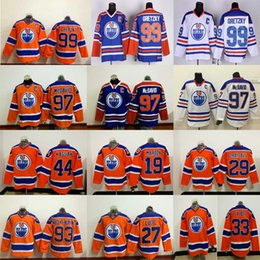 Edmonton Oilers 97 Connor McDavid 99 Wayne Gretzky 44 Zack Kassian 27 Milan Lucic 29 Leon Draisaitl Jersey 33 Cam Talbot Hockey Jerseys
