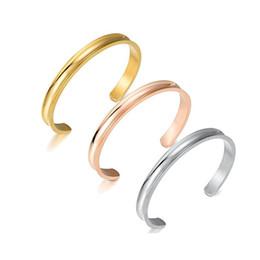 Alto acero inoxidable pulido en Línea-Pulseras del pun ¢ o del acero inoxidable de la manera 3colors para las mujeres