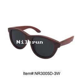 luxury big grey polarized lenses imported red wood sunglasses