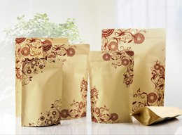 pinrted Kraft Paper with Aluminum Foil Lining Stand UP bag, Moisture-proof Bags,,Ziplock Packaging Bag for nuts cookie etc. free shipping