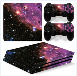 New Deep Space Full Set Vinyl Skin Sticker Decor Decals for Sony PS4 Pro Console Skin + 2 PCS Controller Cover Skin Stickers