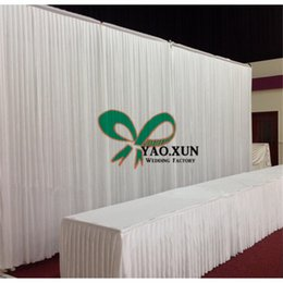 Hot Sale White Color Wedding Backdrop Drape Curtain For Party Decoration