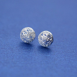 Chinese classical hollow pierced, brushed hemisphere, Round Earrings, FS123