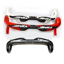 Wholesale 2014 Newest TIME full carbon fiber road bicycle handlebar carbon cycling parts bike Handlebars mm
