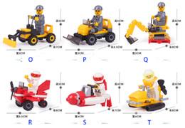 Wholesale City Construction Team Building Blocksmodel assembly building block toy creative chi Minifigures Bricks toys Engineering Truck Car