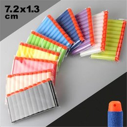 Wholesale Soft Bullet Nerf N strike Elite Rampage Retaliator Blasters Refill Clip Darts Toy Gun Soft Nerf Bullet for Sports Cartoon Game Accessory DHL
