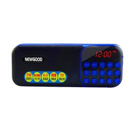 Wholesale Mini Portable Radio Digital LCD Display FM AM Stereo Audio Speaker MP3 Music Radio Player For TF Card