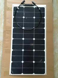 Wholesale 55W V diy kit PV Solar Panel Flexible Solar Module Solar Cell Outdoor Sport Travel Marine Yacht RV Motor Home V Battery Use