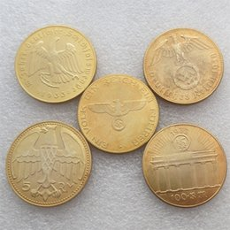 Wholesale German Mixed date Hitler Promotion Cheap Gold Plated copy coins