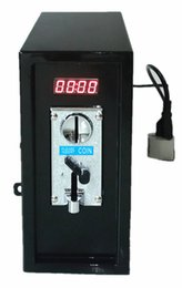 110V coin operated Timer Control Board Power Supply box with Plastic front plate of coin acceptor, lock, and keys