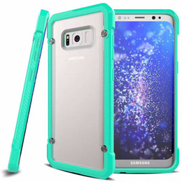 Shockproof Hard Phone Bumper Case For iPhone 7 6S Plus Cover Back Clear Matte Armor Funda Soft TPU Bumper Cover for Samsung Galaxy S8 S7 S6